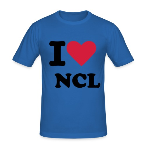 Mens I Love Newcastle Tee (Any Colour) - Men's Slim Fit T-Shirt