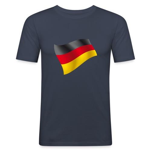 Deutschland Fahne - Männer Slim Fit T-Shirt