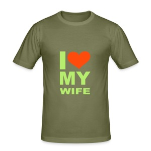 I love my wife - Men's Slim Fit T-Shirt