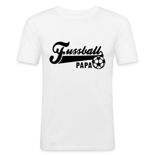 Fussball Papa  - Männer Slim Fit T-Shirt