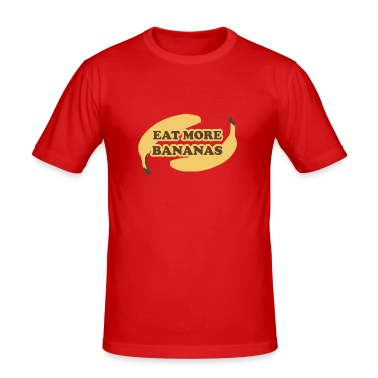 Arancione scuro Eat more bananas T-shirt