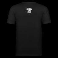 T-Shirts ~ Männer Slim Fit T-Shirt ~ FB Head und Logo white SLIMFIT