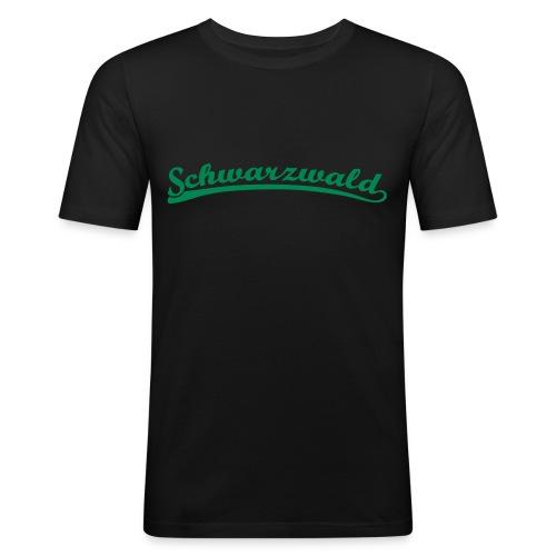 Schwarzwald Retro Schrift T-Shirt  - Männer Slim Fit T-Shirt
