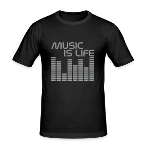 Music Is Life One - Tee shirt près du corps Homme