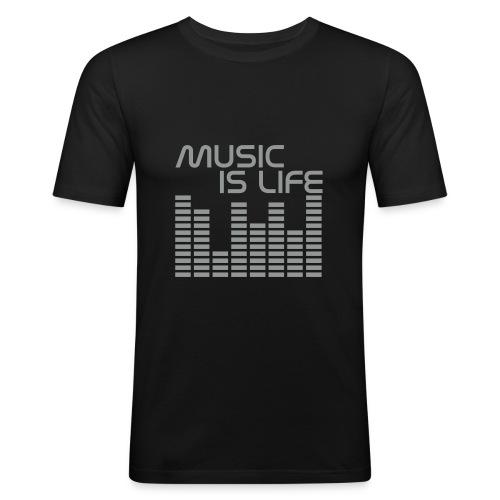 Music Is Life One - T-shirt près du corps Homme