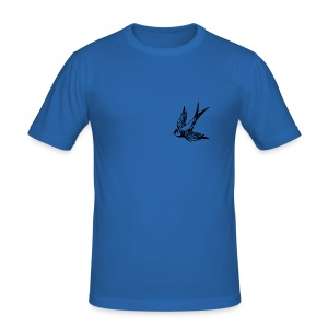 tier t-shirt schwalbe swallow vogel bird wings flügel retro - Männer Slim Fit T-Shirt