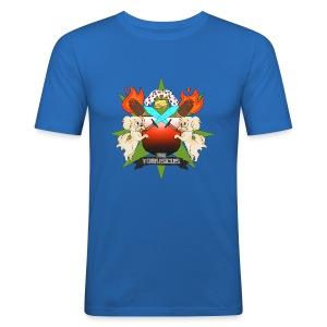 Fan Made Tobuscus Coat of Arms - Men's Slim Fit T-Shirt