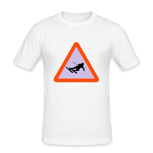 Advarsel: Erfaren skikjørner - Slim Fit T-skjorte for menn