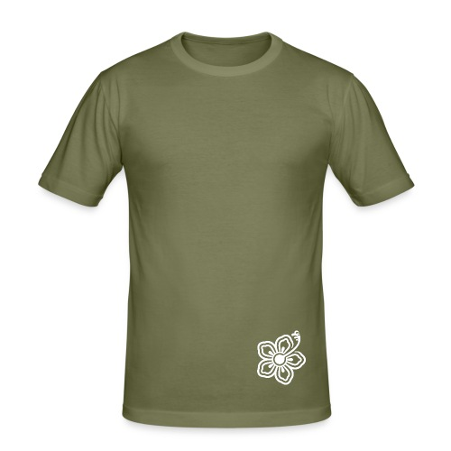 T-Shirt m (olive) - Männer Slim Fit T-Shirt