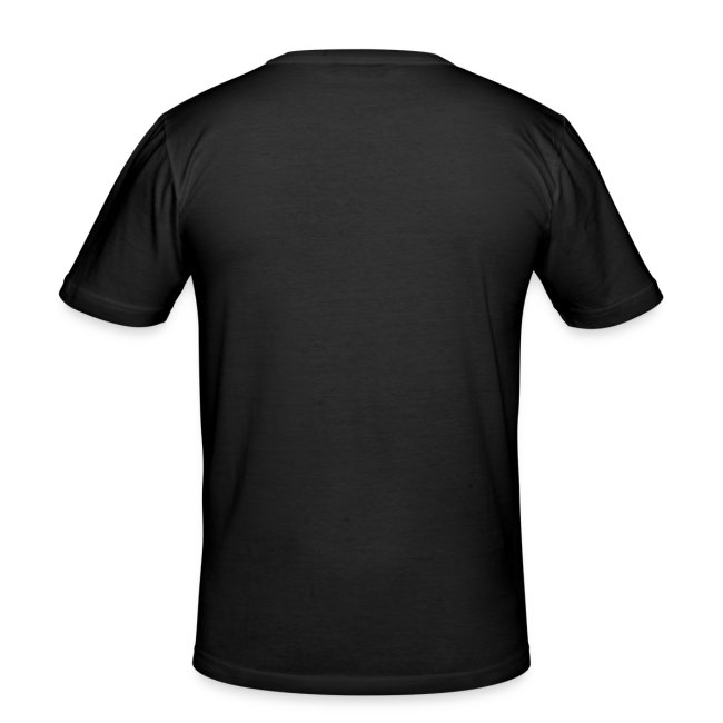 Black T-shirt with silver skull graphics