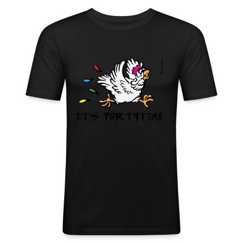 Its Partytime fia dBurschn gelb - Männer Slim Fit T-Shirt