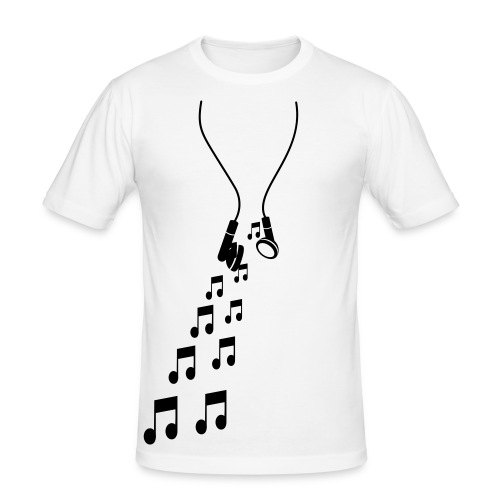 Mens 'headphones' tee - Men's Slim Fit T-Shirt