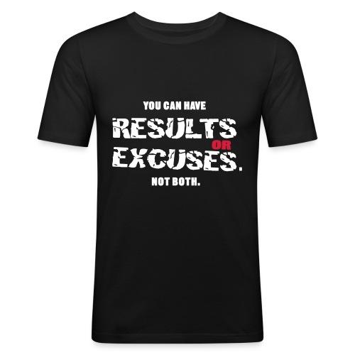 Results or Excuses Black - Slim Fit T-shirt herr