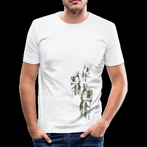 Krieger vom Völkerschlachtdenkmal - Männer Slim Fit T-Shirt