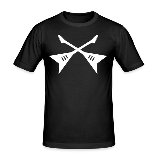 Camiseta guitarras cruzadas - Camiseta ajustada hombre