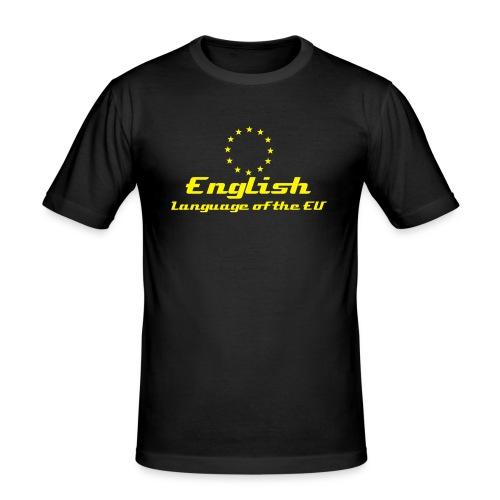 English - Language of the EU - black (m) - Men's Slim Fit T-Shirt