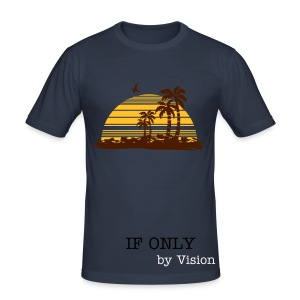Mens Short-sleeve Designer Tee - If Only - Men's Slim Fit T-Shirt