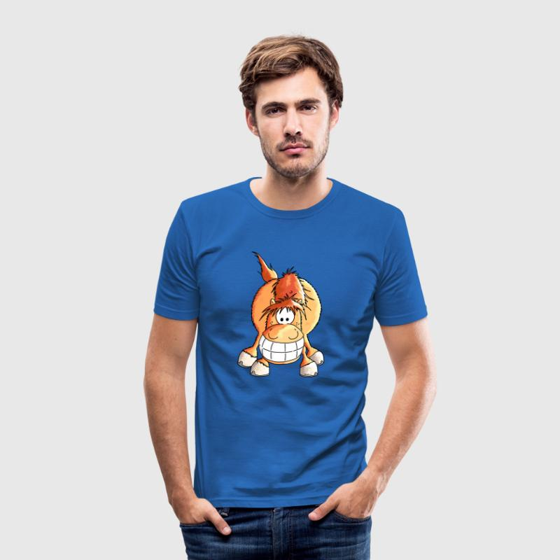 Smiling Horse - Horses - Pony - Cartoon T-Shirts - Men's Slim Fit T-Shirt