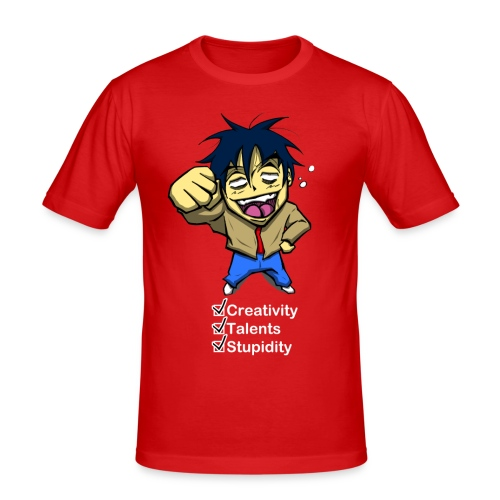 Creativity, Talents, Stupidity - T-shirt près du corps Homme