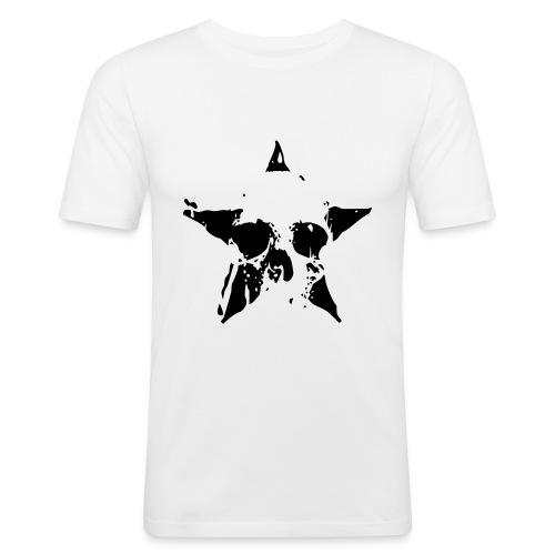 Skull-in-star t-shirt - Men's Slim Fit T-Shirt