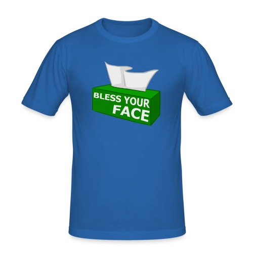 BLESS YOUR FACE - Men's Slim Fit T-Shirt