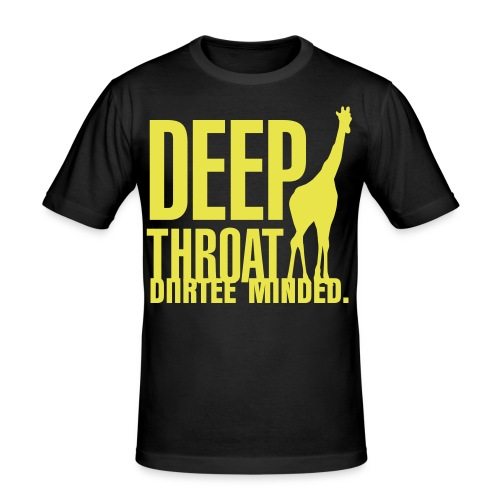 diirtee minded deep throat tee - Men's Slim Fit T-Shirt