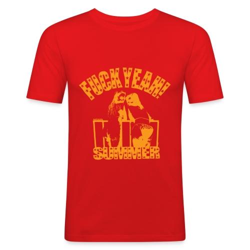 Zomer T-shirt Fuck Yeah! Summer - slim fit T-shirt