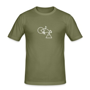 tri-cycle (white) - Men's Slim Fit T-Shirt