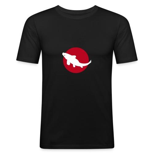 TeeShirt Homme Drapeau Japonais et Carpe Koï - Men's Slim Fit T-Shirt
