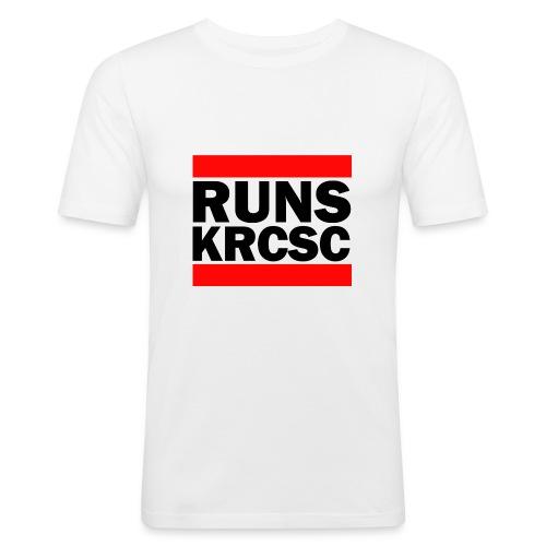 White KRCSC Run DMC Slim-Fit T-shirt - Men's Slim Fit T-Shirt
