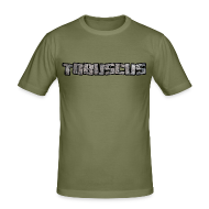 T-Shirts ~ Men's Slim Fit T-Shirt ~ TOBUSCUS (with outline)