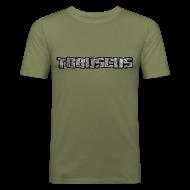 T-Shirts ~ Men's Slim Fit T-Shirt ~ TOBUSCUS (with outline)