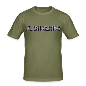 TOBUSCUS (with outline) - Men's Slim Fit T-Shirt