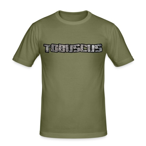 TOBUSCUS (with outline) - Men's Slim Fit T-Shirt