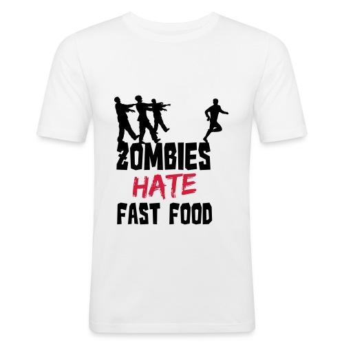 Fast Food - Männer Slim Fit T-Shirt