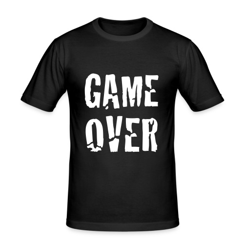Game over mens T-shirt - Men's Slim Fit T-Shirt