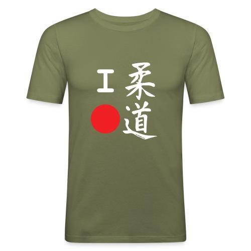 I love judo - Camiseta ajustada hombre