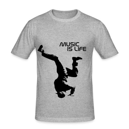 music - Männer Slim Fit T-Shirt