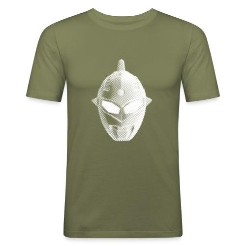Tokusatsu - Homme - Blanc sur vert olive - Men's Slim Fit T-Shirt