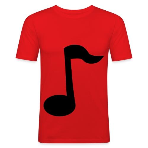 Oransj slim-fit (notemotiv) - Slim Fit T-skjorte for menn