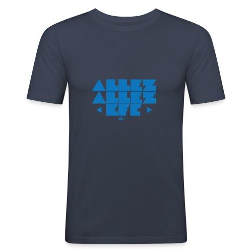 Allez Allez (Blue) - Men's Slim Fit T-Shirt