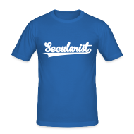 T-Shirts ~ Men's Slim Fit T-Shirt ~ Secularist - baseball design
