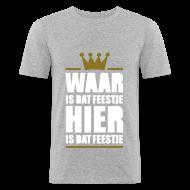 T-shirts ~ slim fit T-shirt ~ Waar is dat feestje