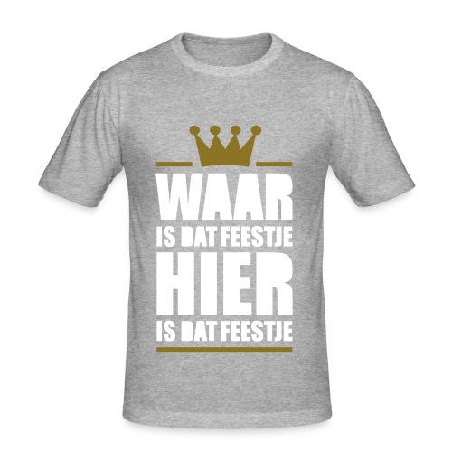 Waar is dat feestje - slim fit T-shirt