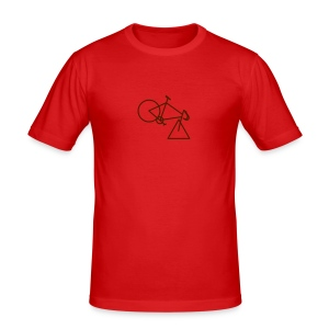 tri-cycle (brown) - Men's Slim Fit T-Shirt