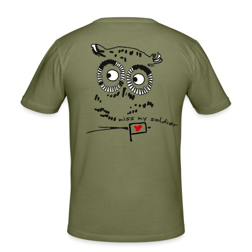 Owl - miss my soldier - Männer Slim Fit T-Shirt