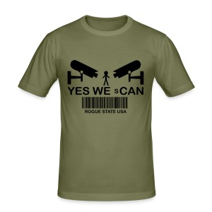 Yes we scan - Rogue State USA - Männer Slim Fit T-Shirt