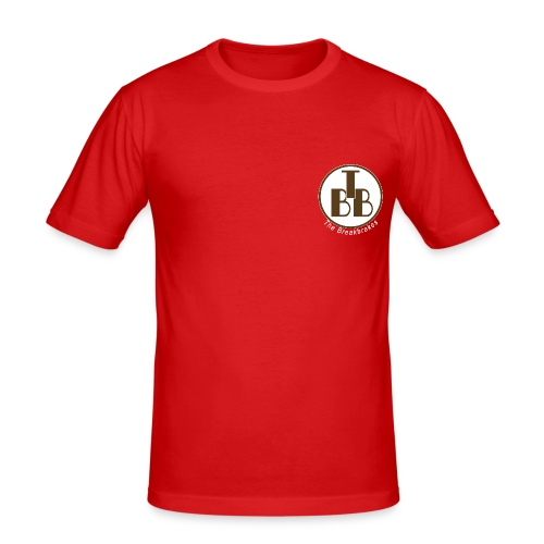 T-Shirt rot Mini-Logo - Männer Slim Fit T-Shirt