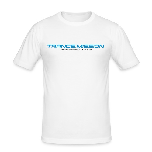 Trance.Mission (m) slim fit (white) - Männer Slim Fit T-Shirt