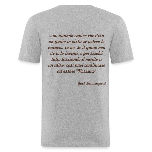 Forse la differenza tra te e me è tutta qui... (double-sided) - Maglietta aderente da uomo